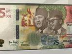 MOMENTUM HUT RI KE 75, BANK INDONESIA LUNCURKAN UANG Rp 75 000 7