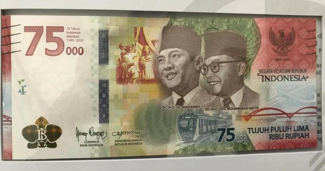 MOMENTUM HUT RI KE 75, BANK INDONESIA LUNCURKAN UANG Rp 75 000 1