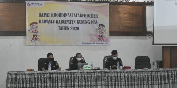 RAKOR BERSAMA STAKEHOLDER PILKADA 2020 DI GUMAS 2