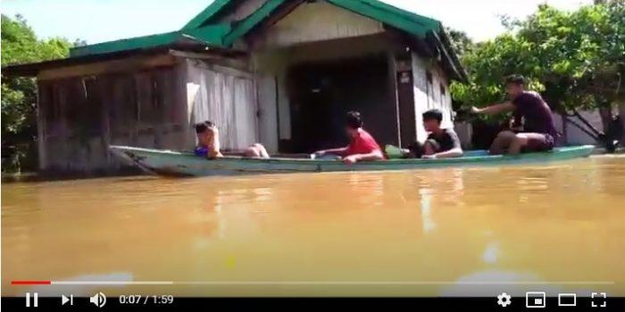 VIDEO BANJIR MELANDA,  MASYARAKAT KALTENG MENDERITA 23