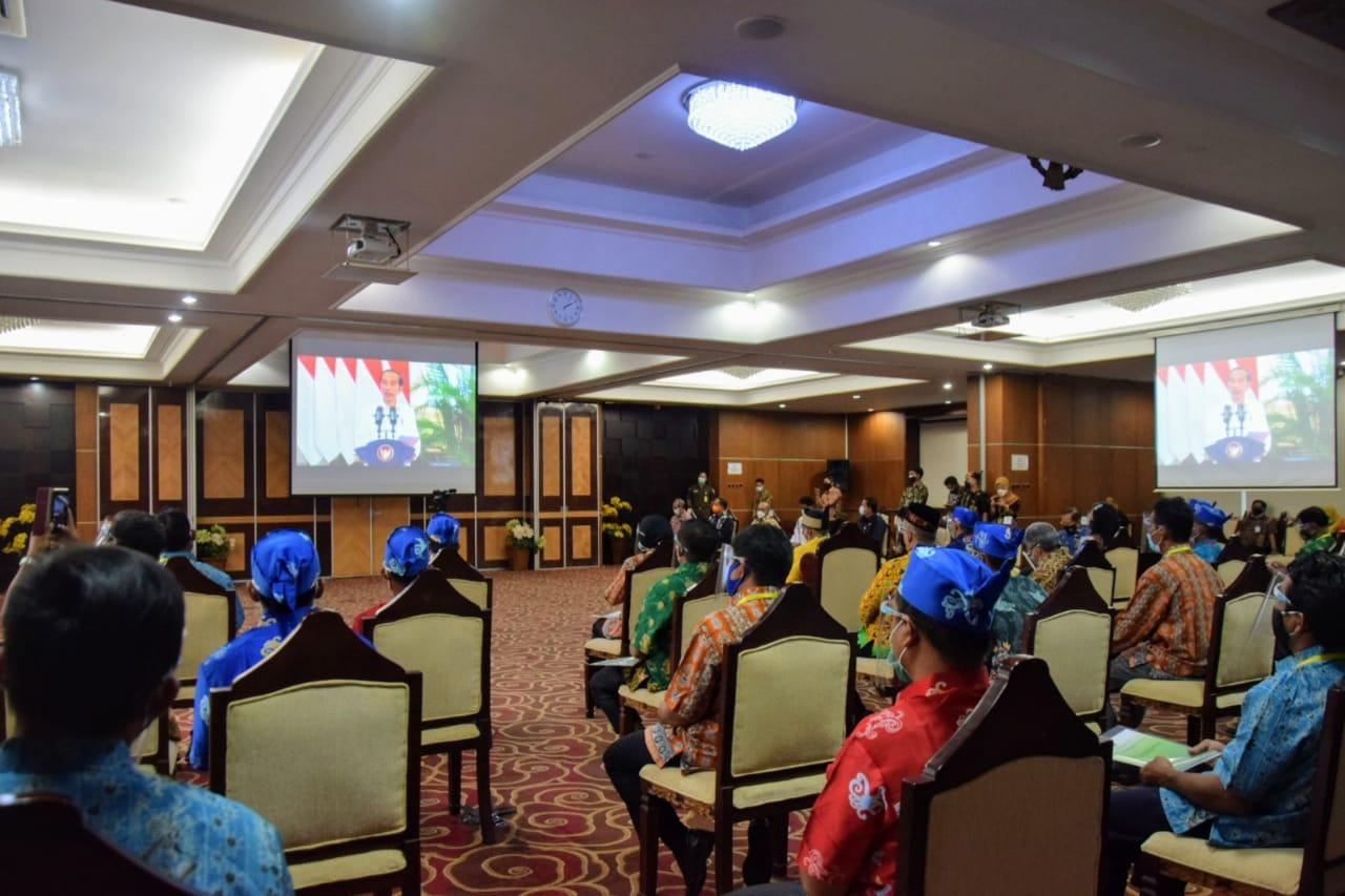 WAGUB KALTENG HADIRI ACARA PENYERAHAN VIRTUAL SK PERHUTANAN SOSIAL DAN TORA SE-INDONESIA 1