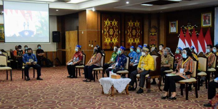 WAGUB KALTENG HADIRI ACARA PENYERAHAN VIRTUAL SK PERHUTANAN SOSIAL DAN TORA SE-INDONESIA 2