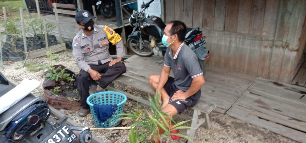 ANGGOTA BHABINKAMTIBMAS POLSEK TASIK PAYAWAN SAMBANGI PERANGKAT DESA BAUN BANGO 1