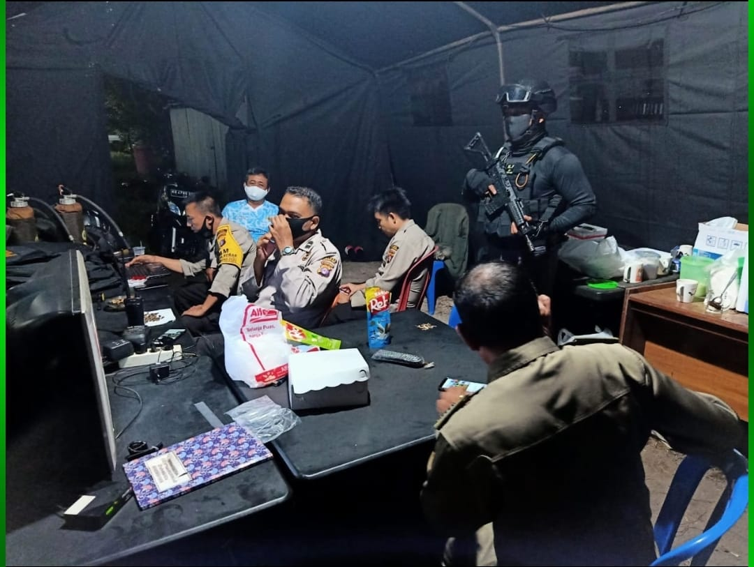 CRT BANTENG SATRESKRIM POLRES KOBAR PATROLI SAMBANG KPU DAN BAWASLU 1