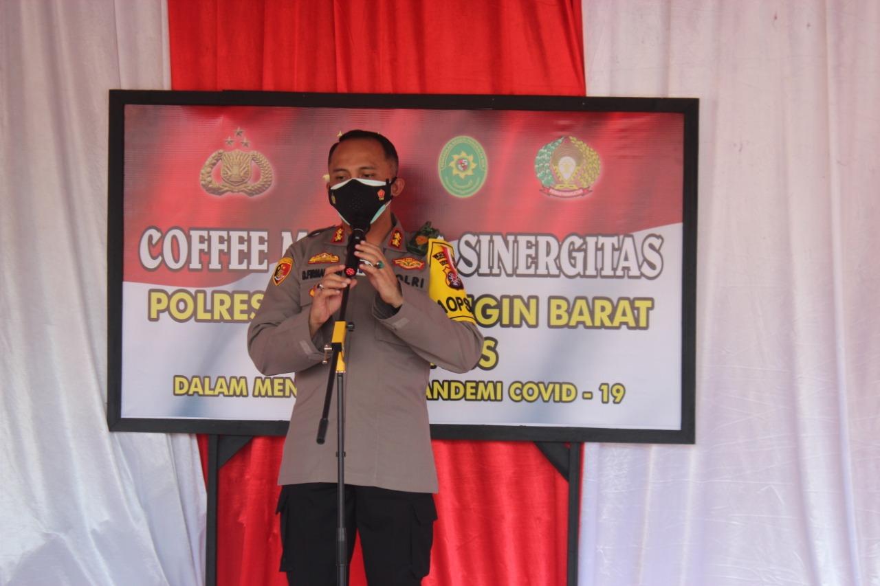 KAPOLRES KOBAR GELAR COFFE MORNING BERSAMA CRIMINAL JUSTICE SYSTEM 1