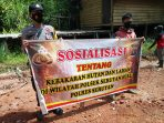 POLSEK SERUYAN HULU SOSIALISASI CEGAH KARHUTLA 6