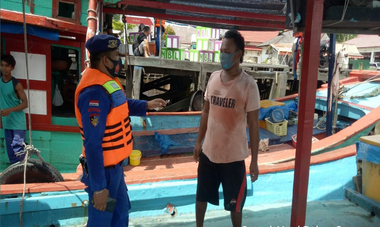 SAMBANG MASYARAKAT PESISIR DAS SERUYAN SATPOLAIRUD INGATKAN WARGA CEGAH VIRUS CORONA 1