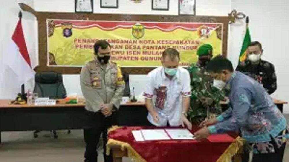 PEMKAB, POLRES DAN KODIM GUMAS BENTUK DESA PANTANG MUNDUR 2