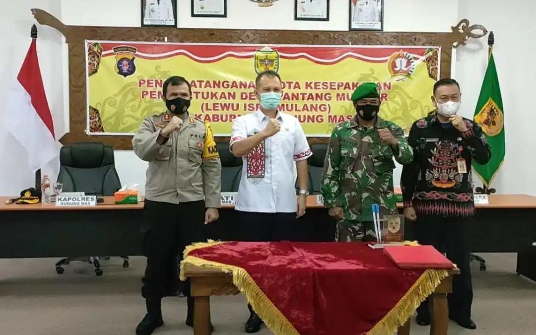PEMKAB, POLRES DAN KODIM GUMAS BENTUK DESA PANTANG MUNDUR 1
