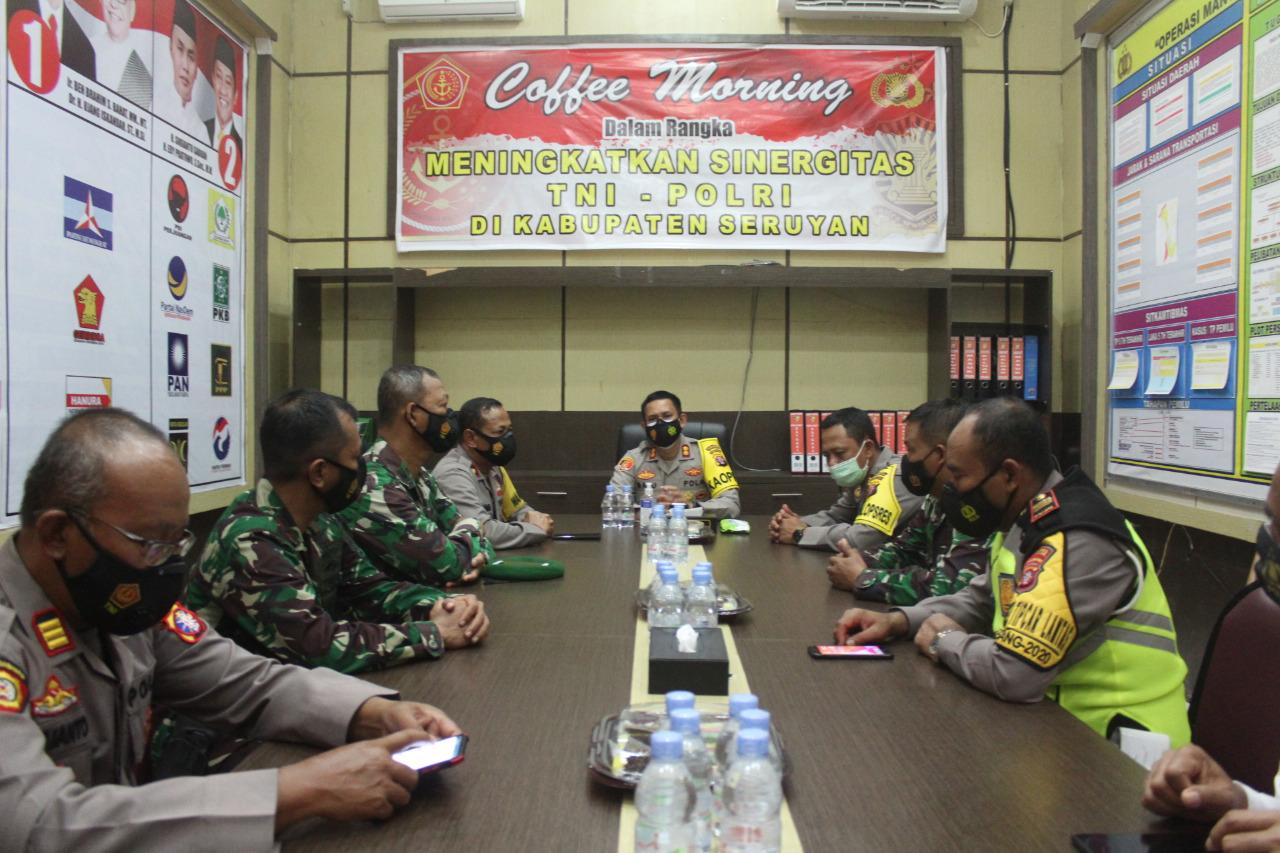 COFFEE MORNING, TNI-POLRI KABUPATEN SERUYAN PERKUAT SINERGITAS 1