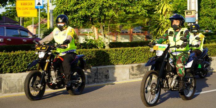 PENGAMANAN PASKAH, DANREM 102/PJG BERSAMA KAPOLDA KALTENG MELAKSANAKAN PATROLI DENGAN SEPEDA MOTOR 2