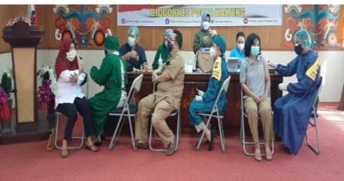 AWAL RAMADAN, RUMKIT BHAYANGKARA VAKSINASI 161 PEGAWAI DINAS SOSIAL PROVINSI KALTENG 1
