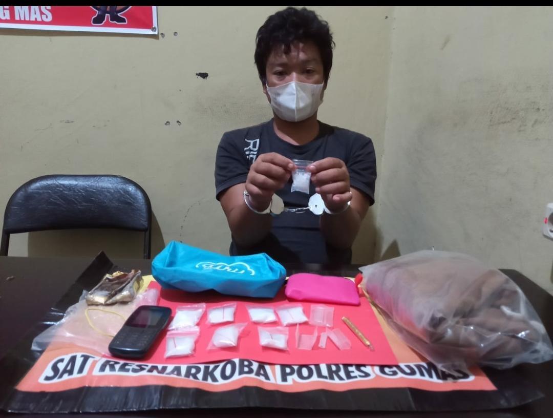 POLRES GUMAS TANGKAP PENGEDAR SABU 41,46 GRAM DI TEWAH 1