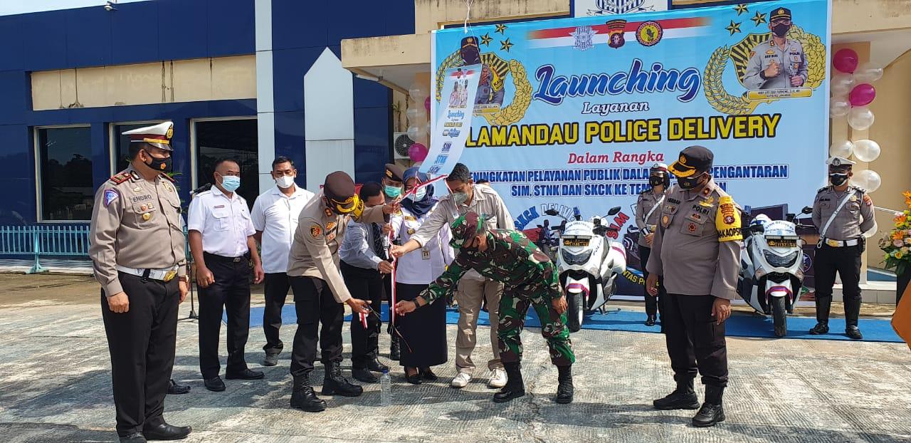 SATLANTAS LUNCURKAN INOVASI BARU, KAPOLRES LAMANDAU LAUNCING LAYANAN LAMANDAU POLICE DELIVERY 1
