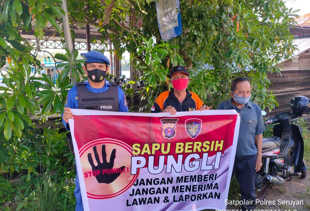STOP PUNGLI !!!, SATPOLAIRUD POLRES SERUYAN SOSISALISASI KE MASYARAKAT TENTANG SABER PUNGLI 1
