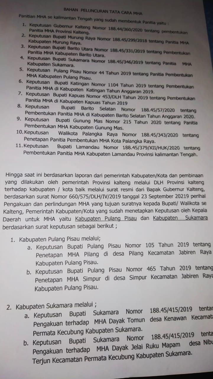 MASYARAKAT HUKUM ADAT MASIH BARU DI PULPIS 1