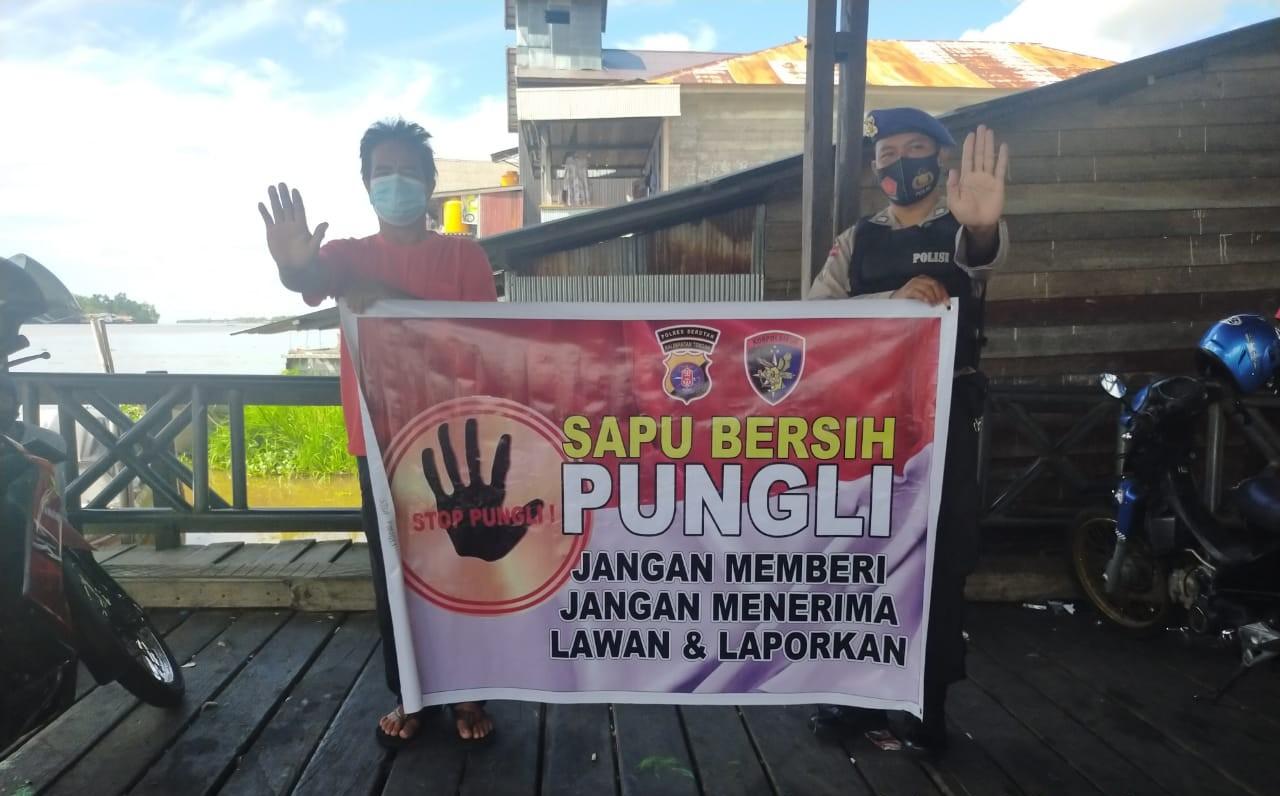 STOP PUNGLI !!! SATPOLAIRUD POLRES SERUYAN SOSISALISASI KE MASYARAKAT TENTANG SABER PUNGLI 1