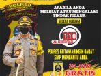 POLRES KOBAR SOSIALISASIKAN LAYANAN CALL CENTER POLRI 110 9