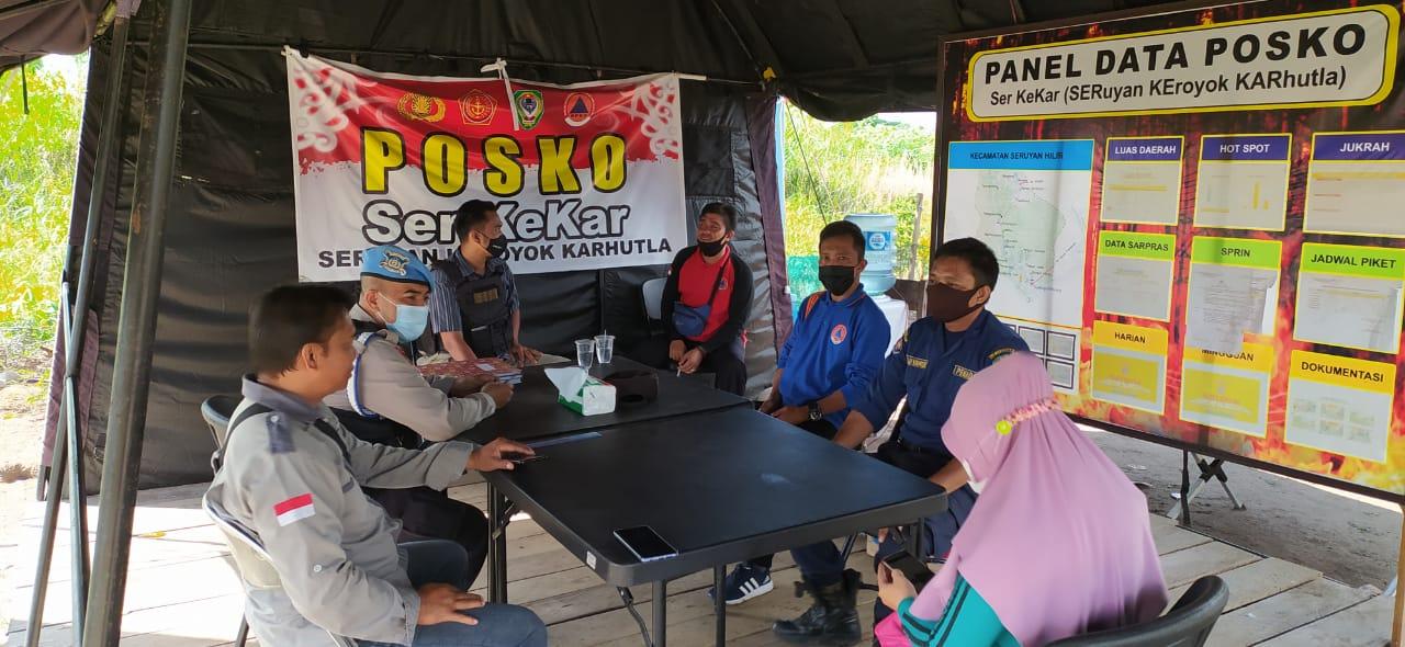 DIBANTU INSTANSI SAMPING DAN TNI DALAM MENCEGAH KARHUTLA, POLRES SERUYAN MELAKSANAKAN SIAGA BERSAMA INSTANSI TERKAIT 1
