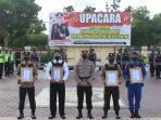 KAPOLRES SERUYAN PIMPIN UPACARA PEMBERIAN REWARD DAN PUNISMENT KEPADA PERSONEL POLRES SERUYAN SERTA PELEPASAN PERSONEL DILINGKUNGAN POLRES SERUYAN 3
