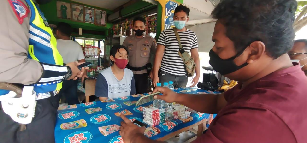 MODUS BELANJA BUMBU DAPUR, WARGA MENDAWAI INI DIGIRING POLISI SETELAH KETANGKAP TANGAN CURI ROKOK 1