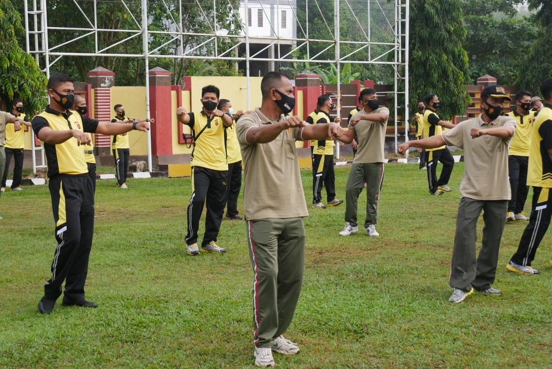 JAGA SINERGITAS TNI POLRI GELAR SENAM BERSAMA 2