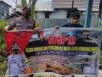 Dengan Gunakan Spanduk, Polsek Mantangai Lakukan Pencegahan Ilegal Mining 13
