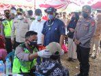 Kapolda Kalteng Bersama Wagub Tinjau Vaksinasi Serbuan Batalyon Vaksinator Polda Kalteng Di Mantangai 2